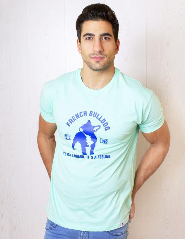 Camiseta manga corta logo Azul